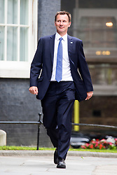 © Licensed to London News Pictures. 12/06/2017. London UK. Jeremy Hunt arrives in Downing Street ahead of Theresa May's first Cabinet meeting since the General Election this afternoon. Photo credit: Andrew McCaren/LNP