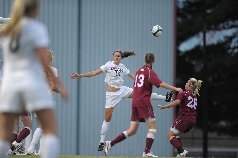 PHILADELPHIA - SEPTEMBER 10:  Penn  women's soccer defeated St Joe's 1-0 on September 10, 2010 at UPenn in Philadelphia, Pennsylvania. (Photo by Drew Hallowell)