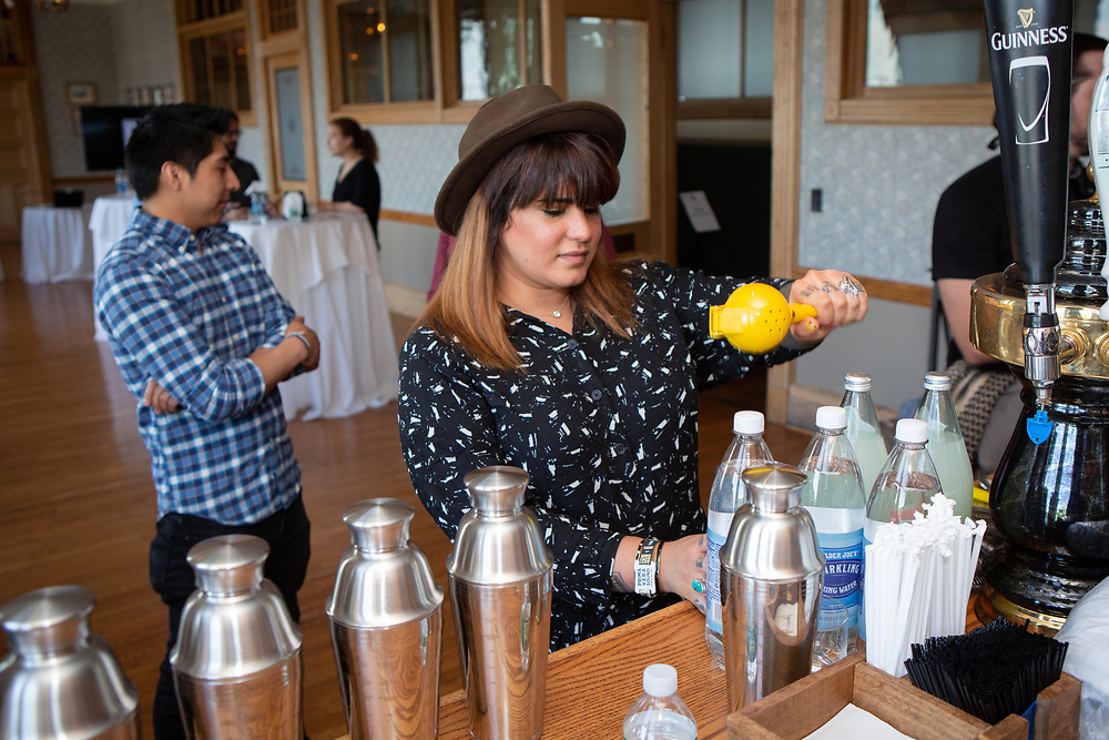 New York, NY - June 4, 2018: Edible Manhattan's Collective gathers for a presentation by Sombro Mezcal at Pier A Harbor House in Battery Park. <br /> <br /> CREDIT: Clay Williams for Edible Manhattan.<br /> <br /> &copy; Clay Williams / http://claywilliamsphoto.com