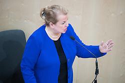 """29.01.2019, Hofburg, Wien, AUT, Parlament, Nationalratssitzung, Sondersitzung des Nationalrates mit einem Dringlichen Antrag der SPÖ zum Thema """"Mangel an Ärztinnen und Ärzten in Österreich"""", im Bild Gesundheits- und Frauenministerin, Ministerin für Arbeit Soziales und Konsumentenschutz Beate Hartinger-Klein (FPÖ) // Austrian Minister for Health and Women's Affairs Beate Hartinger-Klein during meeting of the National Council of austria due to the topic """"Lack of Medical Doctors in Austria"""" at Hofburg palace in Vienna, Austria on 2019/01/29, EXPA Pictures © 2019, PhotoCredit: EXPA/ Michael Gruber"""
