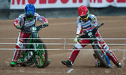 May 12, 2018 - Warsaw, Poland - Maciej Janowski (POL), Krzysztof Kasprzak (POL) during 1st round of Speedway World Championships Grand Prix Poland in Warsaw, Poland, on 12 May 2018. (Credit Image: © Foto Olimpik/NurPhoto via ZUMA Press)