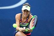 FLUSHING MEADOW, NY - AUGUST 29: NICOLE GIBBS (USA) during day two match of the 2017 US Open on August 29, 2017 at Billie Jean King National Tennis Center, Flushing Meadow, NY.(Photo by Chaz Niell/Icon Sportswire)