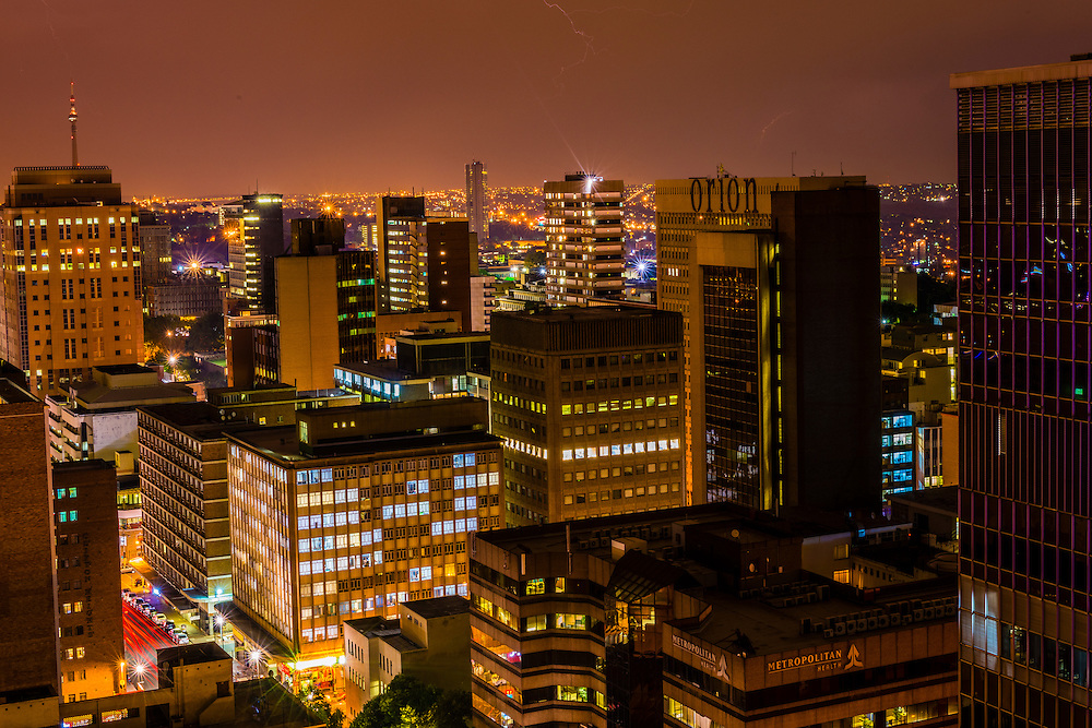 Central Business District, Johannesburg, South Africa.