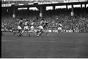 All Ireland Hurling Final - Cork vs Kilkenny.05.09.1982.09.05.1982.5th September 1982.Photographs taken at Croke Park, Dublin..Defenders and attackers alike rush toward the loose ball.