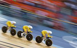 03-08-2012 WIELRENNEN: OLYMPISCHE SPELEN 2012 BAANWIELRENNEN: LONDEN<br /> 4th place Annette Edmondson, Melissa Hoskins, Josephine Tomic (AUS) <br /> ***NETHERLANDS ONLY***<br /> ©2012-FotoHoogendoorn.nl