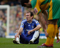 Photo: Leigh Quinnell.<br /> Chelsea v Norwich City. The FA Cup. 17/02/2007.<br /> Chelseas Arjen Robben complains about a Norwich challenge.