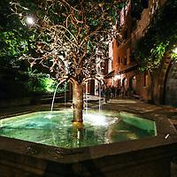 Visita notturna al Borgo Medioevale, nel parco del Valentino a Torino<br /> <br /> Night visit to the medieval town, in the Valentino Park in Turin