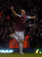 Photo: Olly Greenwood.<br />West Ham United v Brighton & Hove Albion. The FA Cup. 06/01/2007. West Ham's Mark Noble celebrates scoring