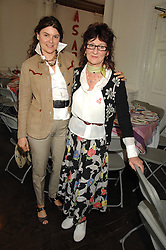Left to right, GERALDINE HARMSWORTH and The Hon JANE ORMSBY GORE at a lunch in aid of African Solutions To African Problems held at Il Bottaccio, 9 Grosvenor Place, London on 20th May 2008.<br /><br />NON EXCLUSIVE - WORLD RIGHTS