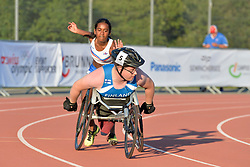 06/08/2017; Hilmarsdottir Helena Osk, T38, ISL, Ristiranta Niko, T54, FIN at 2017 World Para Athletics Junior Championships, Nottwil, Switzerland