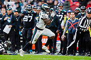 Touchdown, Philadelphia Eagles Wendell Smallwood RB (28) runs in for a touchdown during the International Series match between Jacksonville Jaguars and Philadelphia Eagles at Wembley Stadium, London, England on 28 October 2018.