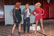 2019, April 01. Hotel Sofitel Legend the Grand, Amsterdam, the Netherlands. Jeff Aurik, Hans Cornelissen and Diego Gonzalez-Clark at the press presentation of Kinky Boots.