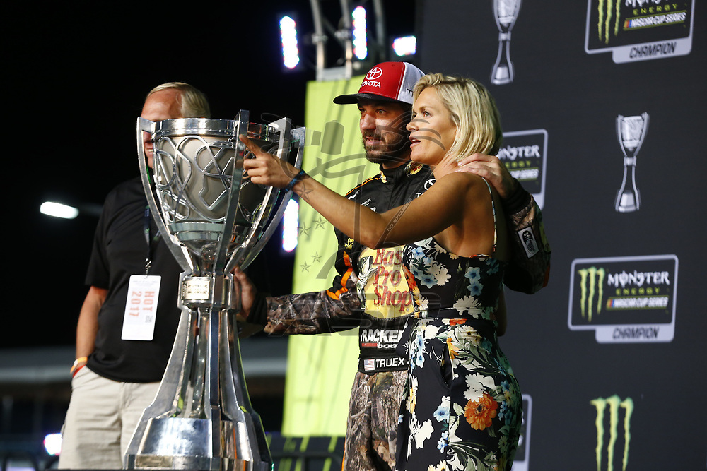 November 19, 2017 - Homestead, Florida, USA: Martin Truex Jr (78) wins the Monster Energy Nascar Cup Championship during Ford EcoBoost 400 at Homestead-Miami Speedway in Homestead, Florida.