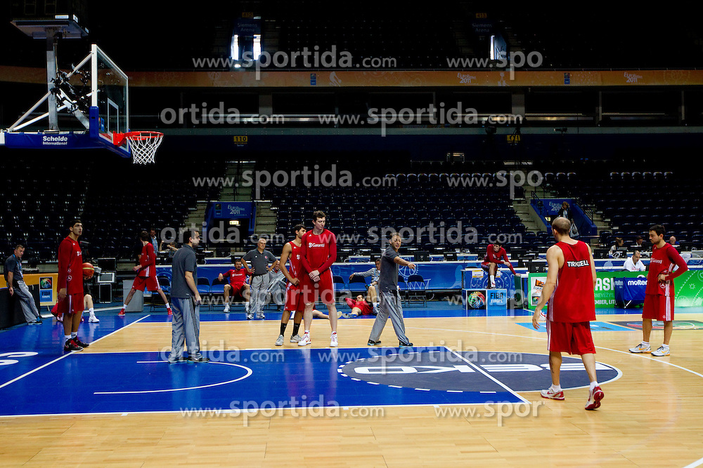 Arena Siemens during practice session of Turkish National basketball team at Eurobasket Lithuania 2011, on September 7, 2011, in Siemens Arena, Vilnius, Lithuania. (Photo by Vid Ponikvar / Sportida)