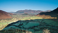 Looking down the valley to Skiddaw from Knott End