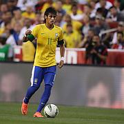 Neymar, Brazil, in action during the USA V Brazil International friendly soccer match at FedEx Field, Washington DC, USA. 30th May 2012. Photo Tim Clayton