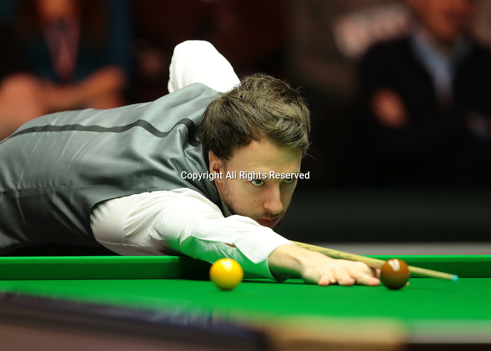 16.01.2016.  Alexandra Palace, London, England. Masters Snooker. Semi Finals. Judd Trump during frame three