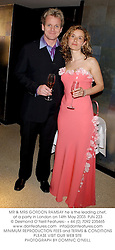 MR & MRS GORDON RAMSAY he is the leading chef, at a party in London on 14th May 2003.	PJN 223
