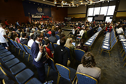 Scene from the March 16, 2016 Town Hall meeting of OH Gov. John Kasich Villanova U. in the suburbs of Philadelphia, PA.