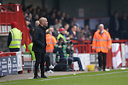 Grimsby Town's manager Marcus Bignot watches on during the EFL Sky Bet League 2 match between Crawley Town and Grimsby Town FC at the Checkatrade.com Stadium, Crawley, England on 26 November 2016. Photo by Jarrod Moore.