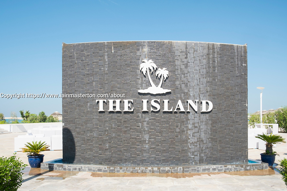The Island Lebanon beach resort on a man made island, part of The World off Dubai coast in  United Arab Emirates
