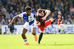 Darragh Lenihan of Blackburn Rovers challenges for the ball with Ellis Harrison of Bristol Rovers - Mandatory by-line: Dougie Allward/JMP - 14/04/2018 - FOOTBALL - Memorial Stadium - Bristol, England - Bristol Rovers v Blackburn Rovers - Sky Bet League One