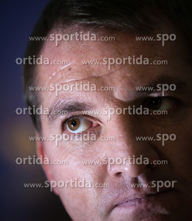 05.12.2012, Stadio Friuli, Udine, ITA, UEFA EL, Udinese Calcio vs FC Liverpool, Gruppe A, Pressekonferenz, FC Liverpool, im Bild Brendan Rodgers (Trainer, Liverpool FC) // Brendan Rodgers (Trainer, Liverpool FC) during Pressconference of Liverpool FC before the UEFA Europa League group A match between Udinese Calcio .and Liverpool FC at the Stadio Friuli, Udinese, Italy on 2012/12/05. EXPA Pictures © 2012, PhotoCredit: EXPA/ Juergen Feichter