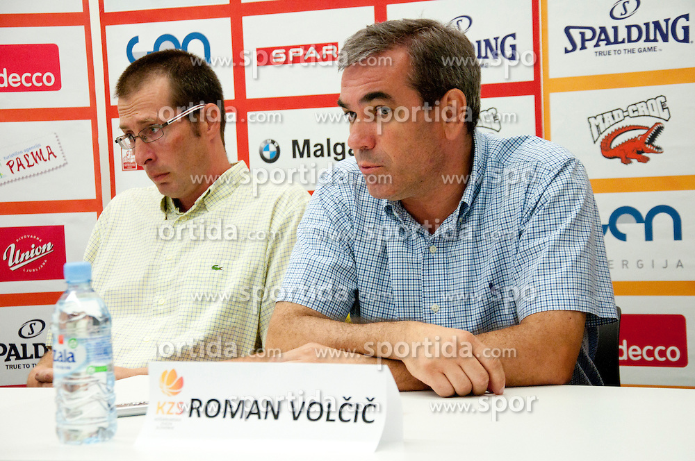 Roman Volcic during press conference of Adecco Ex-Yu Cup 2012 as part of exhibition games 2012, on August 3rd, 2012, in Arena Stozice, Ljubljana, Slovenia. (Photo by Urban Urbanc / Sportida)