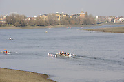 Putney , GREAT BRITAIN, General views on the River Thames,  Putney Hard. Sun  24/02/2008  2008. [Mandatory Credit, Peter Spurrier/Intersport-images] Rowing Course: River Thames, Championship course, Putney to Mortlake 4.25 Miles,