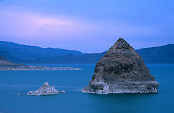 &quot;Sunset at Pyramid Lake, Nevada&quot;- These tufas were shot from the east shore of Pyramid Lake, Nevada.<br />