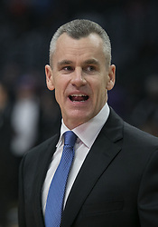 March 8, 2019 - Los Angeles, California, United States of America - Coach, Billy Donovan of the Oklahoma Thunder  during their NBA game with the Los Angeles Clippers on Friday March 8, 2019 at the Staples Center in Los Angeles, California. Clippers defeat Thunder, 118-110.  JAVIER ROJAS/PI (Credit Image: © Prensa Internacional via ZUMA Wire)