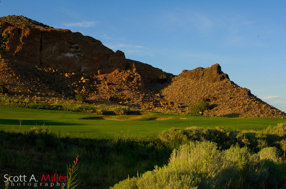 Albuquerque, N.M.:  July 9, 2006 -  No. 16 on the Twin Warriors Golf Club in Santa Ana Pueblo, N.M...                ©2006 Scott A. Miller