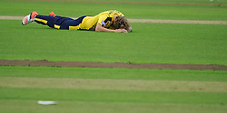 Dejection for Gareth Berg.  - Mandatory by-line: Alex Davidson/JMP - 19/06/2016 - CRICKET - Cooper Associates County Ground - Taunton, United Kingdom - Somerset v Hampshire - NatWest T20 Blast