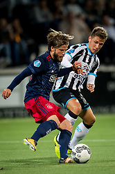 (L-R) Lasse Schone of Ajax, Reuven Niemeijer of Heracles Almelo during the Dutch Eredivisie match between Heracles Almelo and Ajax Amsterdam at Polman stadium on August 12, 2017 in Almelo, The Netherlands