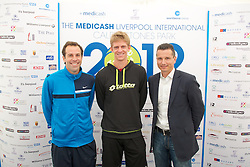 LIVERPOOL, ENGLAND - Thursday, June 21, 2012: Greg Rusedski (GRB), Kevin Anderson (RSA), Richard Krajicek (NED) during a press conference on the opening day of the Medicash Liverpool International Tennis Tournament at Calderstones Park. (Pic by David Rawcliffe/Propaganda)