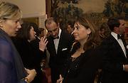 Dr. Luigi Maramotti and Alex Shulman. Dinner at the Italian Embassy in which the winner of the MaxMara Art Prize for Women is announced. Grosvenor Sq. London . 2 February  2006. © Copyright Photograph by Dafydd Jones 66 Stockwell Park Rd. London SW9 0DA Tel 020 7733 0108 www.dafjones.com