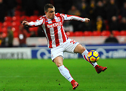 Xherdan Shaqiri of Stoke City controls the ball - Mandatory by-line: Nizaam Jones/JMP - 31/01/2018 - FOOTBALL - Bet365 Stadium - Stoke-on-Trent, England - Stoke City v Watford - Premier League