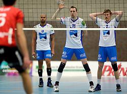 13-12-2014 NED: Prins VCV - Abiant Lycurgus, Veenendaal<br /> Lycurgus wint met 3-1 van VCV / Tim Smit, Jeff Zornig