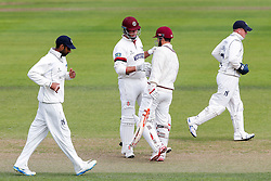 Marcus Trescothick (capt) and James Hildreth of Somerset in action - Mandatory byline: Rogan Thomson/JMP - 07966 386802 - 22/09/2015 - CRICKET - The County Ground - Taunton, England - Somerset v Warwickshire - Day 1 - LV= County Championship Division One.