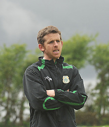 Castlebar Celtic'c manager Stevie Gavin pictured in Milebush Castlebar.<br /> Pic Conor McKeown