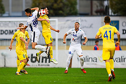 Semir Smajlagic of ND Gorica vs Tilen Klemencic of NK Domzale during football match between NK Domzale and ND Gorica in 14th Round of Prva liga Telekom Slovenije 2018/19, on November 7, 2018 in Sportni Park, Domzale, Slovenia. Photo by Matic Klansek Velej / Sportida