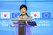 Brussels 8 November 2013<br /> Seventh European Union - Republic of Korea summit <br /> <br /> Pix :  Ms Park Geun-Hye.<br /> <br /> Credit Denis Closon / Isopix *** local caption *** 21266415
