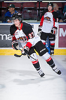 KELOWNA, CANADA - DECEMBER 8:  Alex Forsberg #21 of the Prince George Cougars skates on the ice at the Kelowna Rockets on December 8, 2012 at Prospera Place in Kelowna, British Columbia, Canada (Photo by Marissa Baecker/Shoot the Breeze) *** Local Caption ***