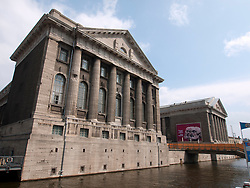 Exterior of famous Pergamon Museum on Museumsinsel in Berlin Germany