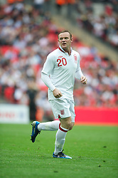 LONDON, ENGLAND - Saturday, June 2, 2012: England's Wayne Rooney in action against Belgium during the International Friendly match at Wembley. (Pic by David Rawcliffe/Propaganda)