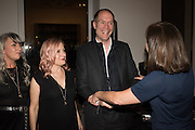 "DAWN HINDLE; EMILY BRADBURY; HARRY BLAIN; RACHEL HOWARD, The launch of Rachel Howard's ""Humble Hanger"" -  a limited edition jewellery collaboration with True Rocks.. BlainSouthern, Hanover Sq. London. 18 November 2015"