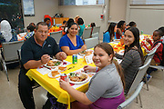 Students at Las Americas Newcomer School got (what was for many) their very first taste of Thanksgiving on Nov. 20, thanks to St. Luke's Methodist Church, which is right across the street, and Mireya Ottaviano, a congregant and member of the Memorial Spring Branch Rotary Club. Families at that campus come from 32 different countries, some of whom don't know the meaning of Thanksgiving or why Americans celebrate it. All families enjoyed a turkey dinner with stuffing, cranberry, and pumpkin pie.