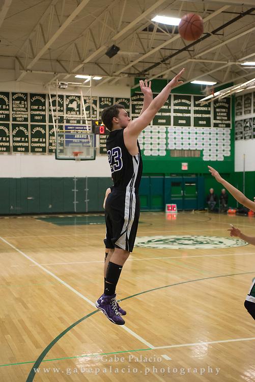 John Jay Varsity Basketball game vs. Brewster at Brewster High School on January 7, 2015. (photo by Gabe Palacio)