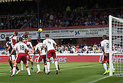 Dundee&rsquo;s Mark O&rsquo;Hara heads home his side's consolation goal - Dundee v Rangers, Ladbrokes Scottish Premiership at Dens Park<br /> <br />  - &copy; David Young - www.davidyoungphoto.co.uk - email: davidyoungphoto@gmail.com