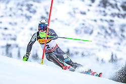 17.02.2019, Aare, SWE, FIS Weltmeisterschaften Ski Alpin, Slalom, Herren, 1. Lauf, im Bild Henrik Kristoffersen (NOR) // Henrik Kristoffersen of Norway in action during his 1st run of men's Slalom of FIS Ski World Championships 2019. Aare, Sweden on 2019/02/17. EXPA Pictures © 2019, PhotoCredit: EXPA/ Dominik Angerer